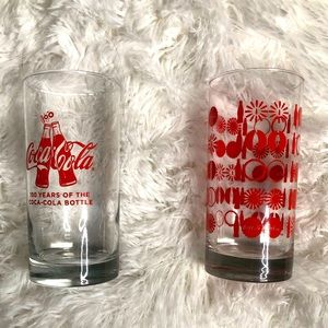 2 Coca-Cola Drinking Glasses